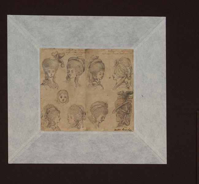 CHODOWIECKI Daniel Nicolas (dessinateur, peintre) : Etudes de têtes de femmes et d'enfants