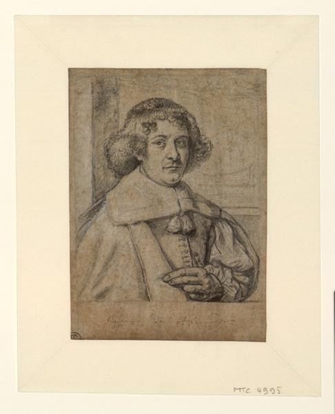 MEYSSENS Joannes (dessinateur, peintre), HOLLANDER Gaspar de (dessinateur) : Portrait de Gaspar de Hollander, Portrait d'un abbé (ancien titre)
