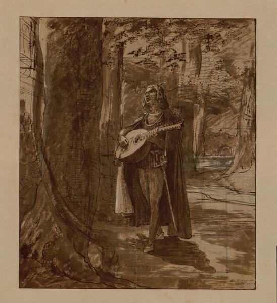 Jeune homme jouant de la mandoline_0