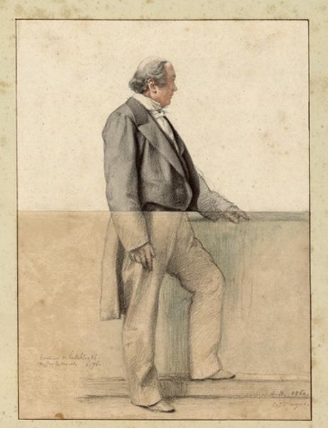 BODINIER Guillaume (peintre, dessinateur) : Portrait d'Edouard Moll