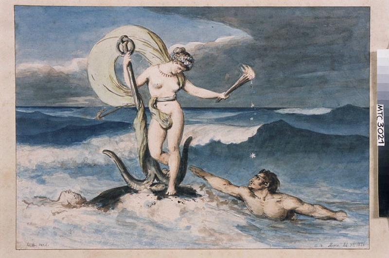 BODINIER Guillaume (peintre, dessinateur) : Vénus debout sur les flots