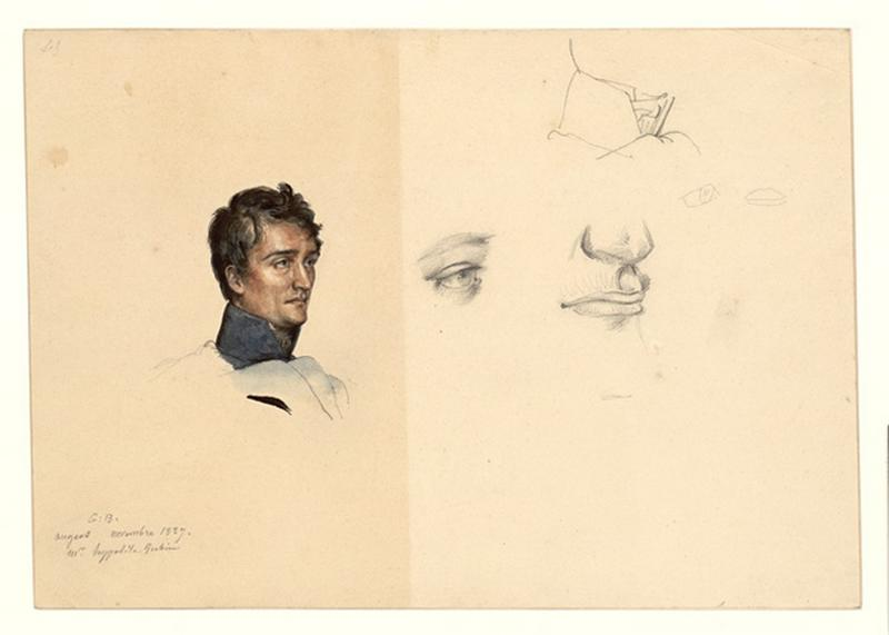 Etude pour le portrait d'Hippolyte Jubin_0