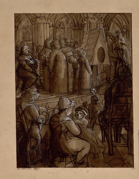 BODINIER Guillaume (dessinateur, peintre) : Le plain-chant