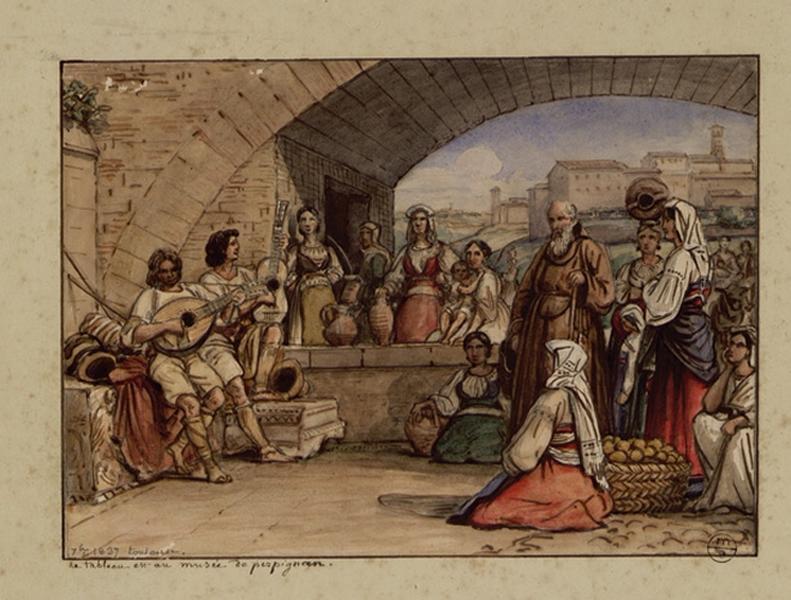 BODINIER Guillaume (peintre, dessinateur) : Les joueurs de luth