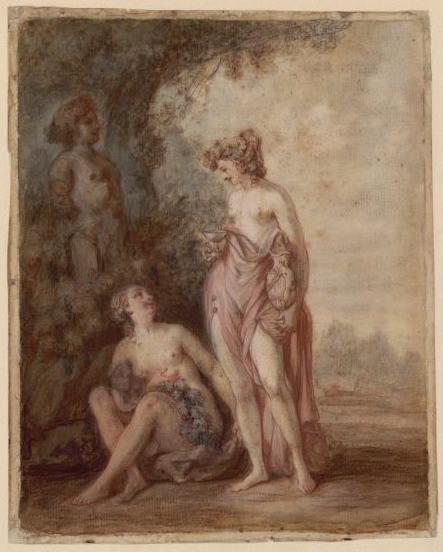 WATTEAU Louis Joseph (dessinateur, peintre), WATTEAU DE LILLE (dit) : L'Automne