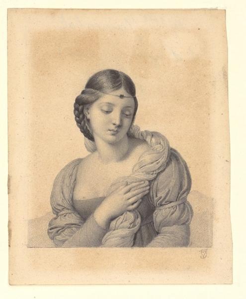 Tête de Vierge ; Portrait de femme (titre de Recouvreur)_0