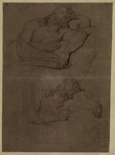 Etude pour le visage d'Agamemnon ; Etude pour la figure d'Agamennon ; Agamennon (titre de Jouin)_0