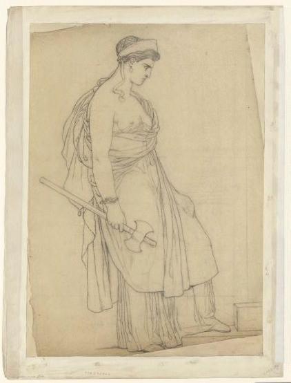 Etude pour Clytemnestre armée d'une hache (visage à droite) ; Clytemnestre (cat. vente 1873, n° 159)_0