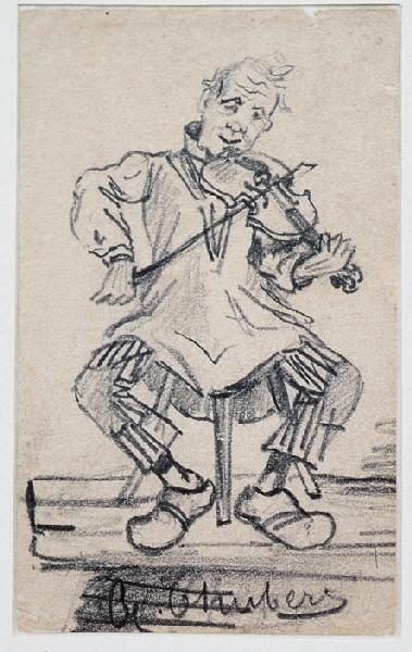 Etudes diverses ; Quatre études ; Joueur de violon