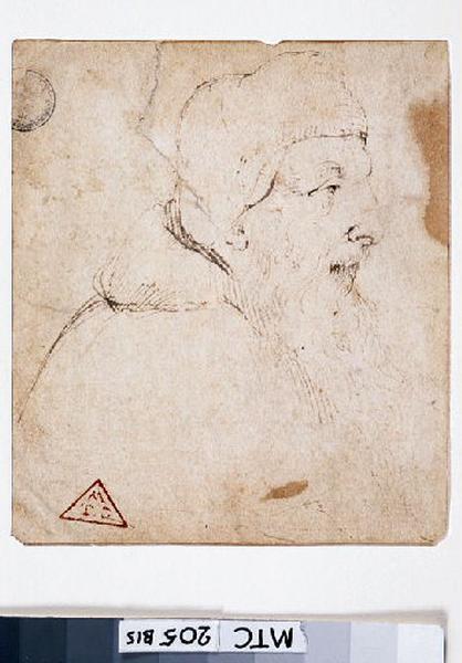 anonyme : Portrait d'homme (de profil à droite)