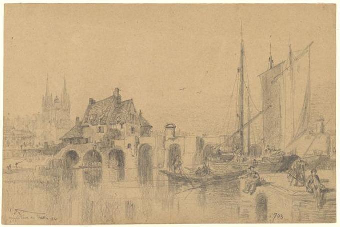 Angers, pont des Treilles, 1840_0