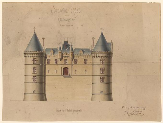 Château de Brézé, restauration (Façade de l'entrée principale)_0
