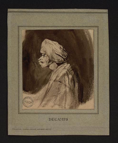 DECAMPS Alexandre Gabriel (dessinateur) : Un oriental coiffé d'un turban