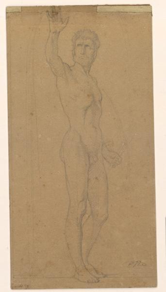 Etude pour Joshué arrêtant le soleil ; Figure d'homme debout (titre cat. vente Bodinier 1873)_0