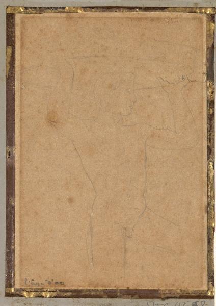 INGRES Jean Auguste Dominique (dessinateur) : Etude de jeune homme symbolisant l'Âge d'or