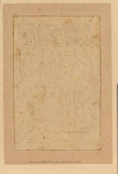 INGRES Jean Auguste Dominique (dessinateur) : Guerriers debouts