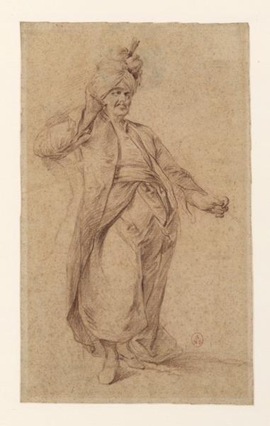 Un sultan ; Ebauche d'une tête de jeune femme_0