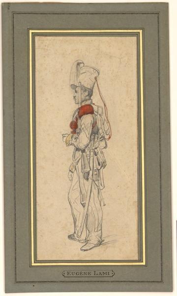 LAMI Eugène (dessinateur) : Soldat d'artillerie