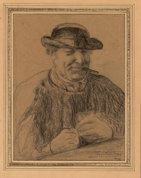 MILCENDEAU Charles (dit), MILCENDEAU Edmond (patronyme) : Paysan vendéen à mi-corps