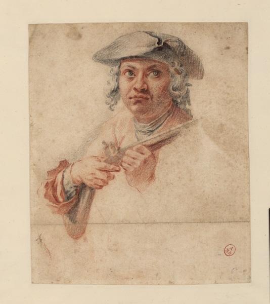 Homme avec un fusil ; Un garde-chasse (titre dans le catalogue Recouvreur)