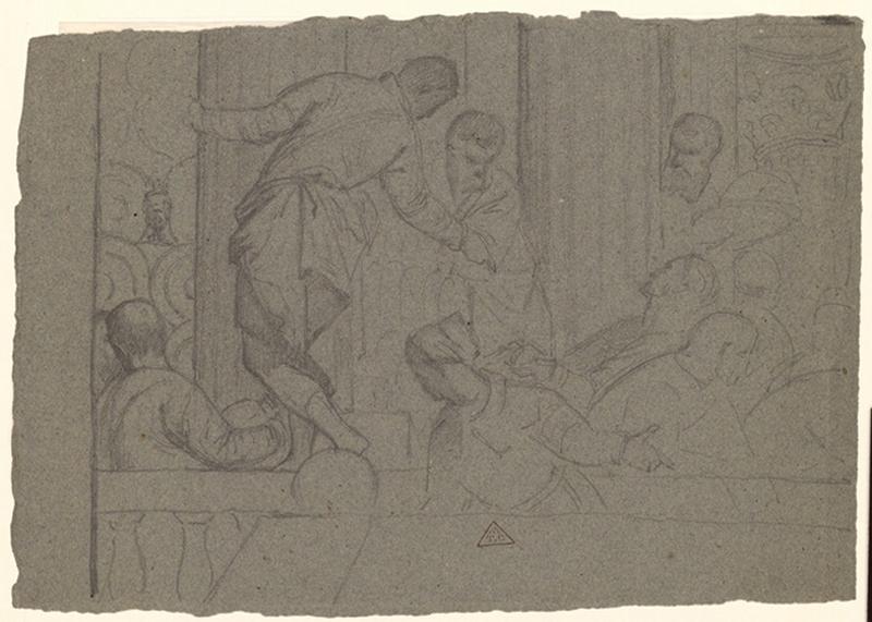 Copie d'après les Noces de Cana de Véronèse