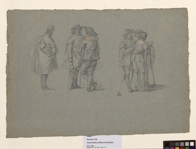 anonyme, VELASQUEZ Diego (d'après) : Copie d'après un tableau de Vélasquez