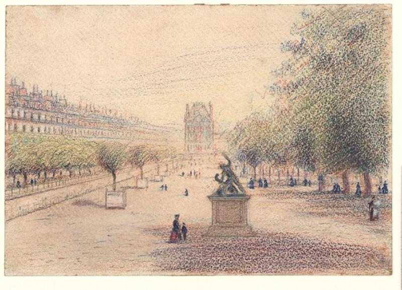 SAINT-GENYS Etienne de (dessinateur) : Les Tuileries