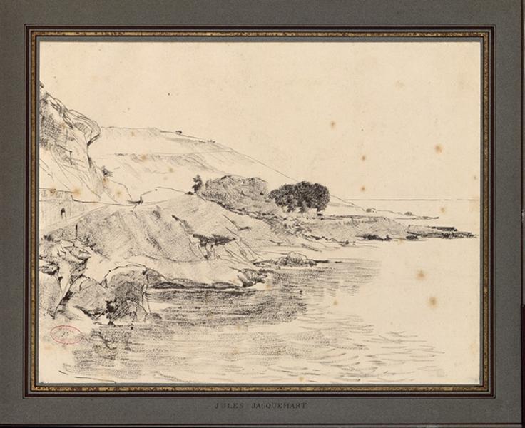 JACQUEMART Jules Ferdinand (dessinateur) : Vue de la côte méditerranéenne