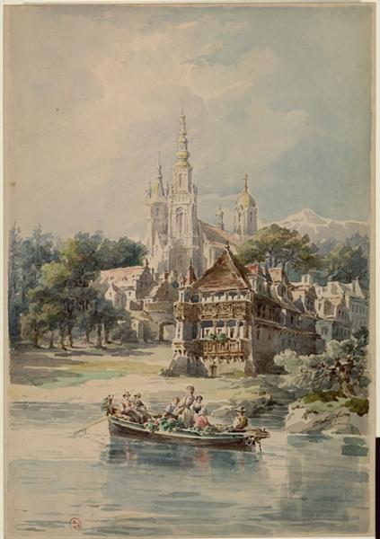 CESBRON-LAVAUX Charles (dessinateur) : Rosatz, bords du Danube