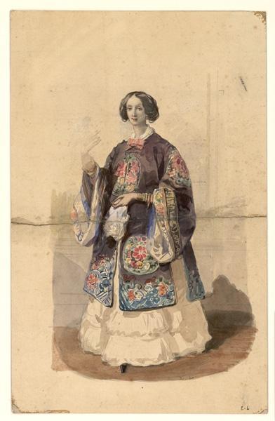 E L (dessinateur) : Femme en costume exotique