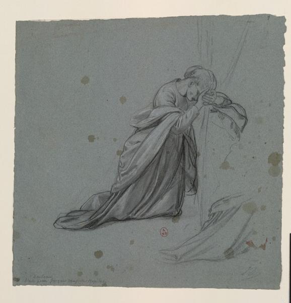 Femme agenouillée priant