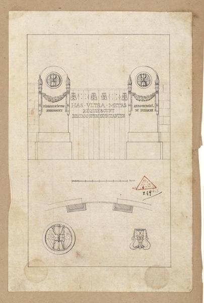 Projet d'un monument ; Fides et Pietas_0