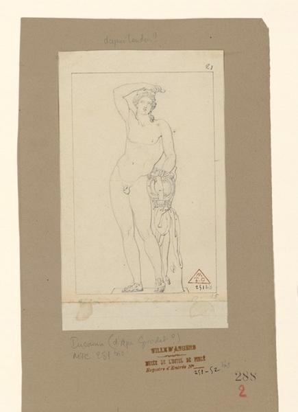 Copie d'une statue antique ; Adolescent