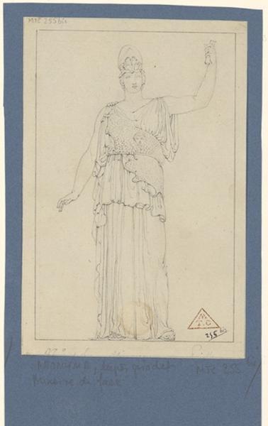 anonyme, GIRODET DE ROUCY-TRIOSON Anne Louis (d'après) : Copie de la Minerve Giustiniani, Copie d'une statue de Minerve