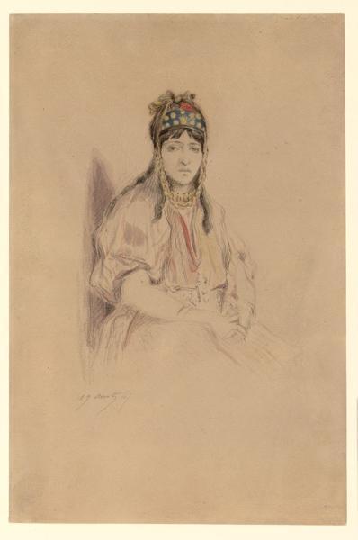 HEDOUIN Edmond (dessinateur) : Zoroh ben Sada, femme orientale
