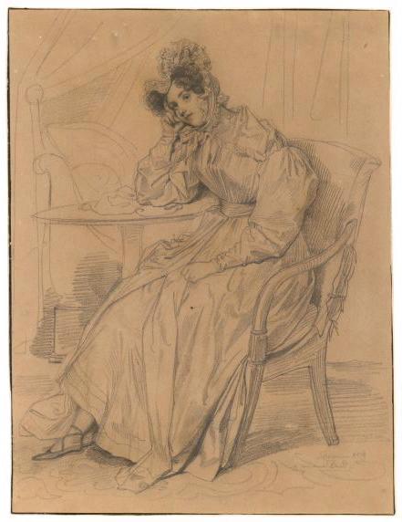Portrait de Céleste Motte ; Portrait de femme_0