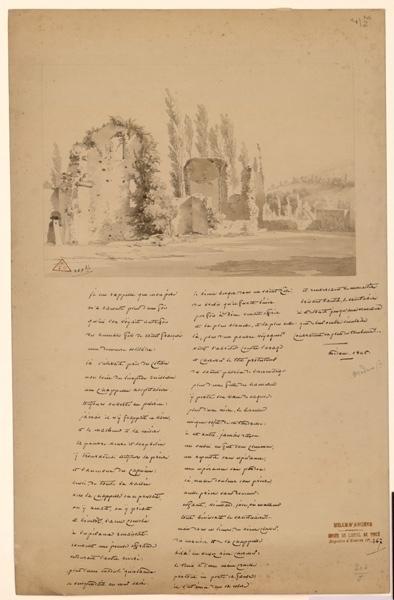 anonyme : Ruines d'une église anglicane