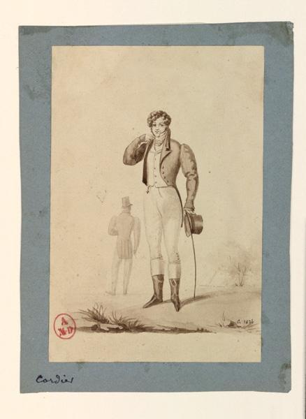 CORDIER Antoine Joseph (dessinateur, peintre) : Deux hommes