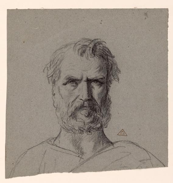 BRUNCLAIR Eugène (dessinateur) : Portrait (semelle)