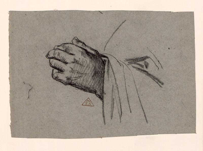 BRUNCLAIR Eugène (dessinateur) : Etude de main