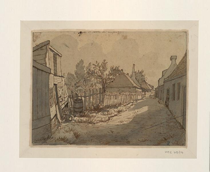 Le Kerkpad près de l'église saint Nicolas et sainte Barbe, à l'extérieur des murs de la ville d'Amsterdam