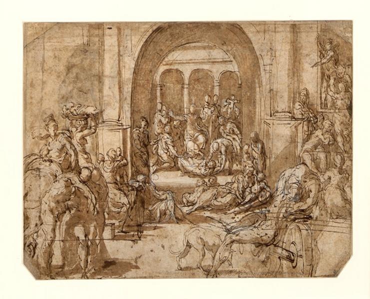 La guérison des malades (au verso études de personnages portés) ; Le Massacre des Innocents (ancien titre)