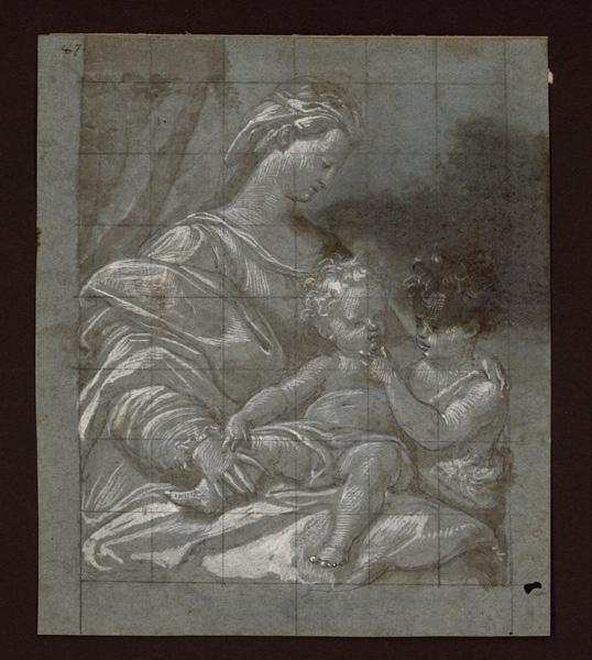 SANTI DI TITO (dessinateur) : La Vierge à l'Enfant