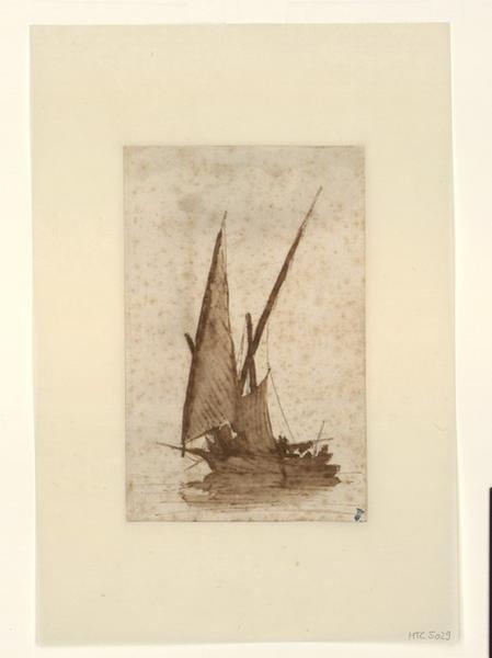 Esquisse d'un voilier ; Barque de pêche à la voile (autre titre)_0