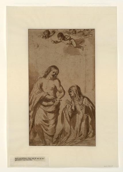 BARBIERI Gian Francesco (d'après), LE GUERCHIN (dit), GUERCINO (dit) : L'apparition du Christ à sainte Thérèse, Le Christ montre à sa mère sa main de martyr (autre titre)