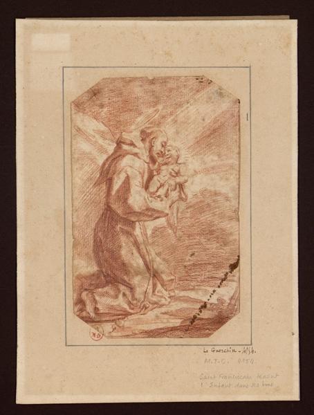 GUERCINO (?, dit), BARBIERI Gian Francesco, LE GUERCHIN (dit), CRESPI Giuseppe Maria (?), SPAGNUOLO Lo (dit) : Saint François adorant l'enfant