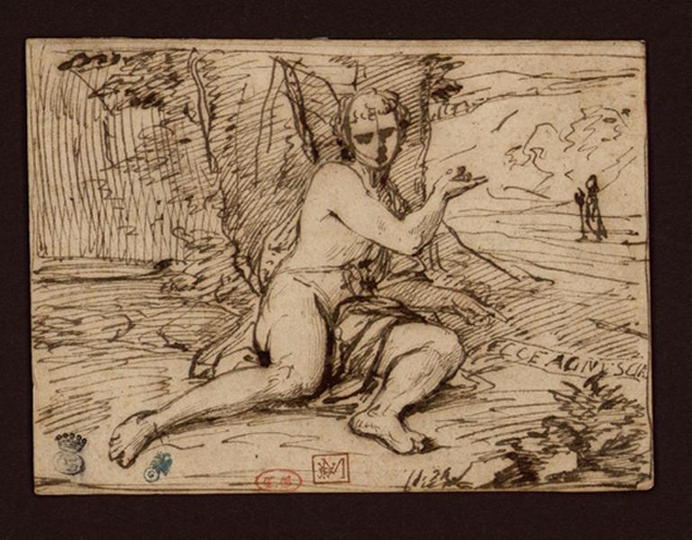 TESTA Pietro (dessinateur), MOLA Pier Francesco (d'après, ?) : Saint Jean-Baptiste