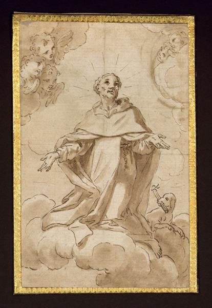 anonyme, MONORILLO Salvi, MONOSILIO Salvatore (attribué) : Saint auréolé monte au ciel, Saint Dominique