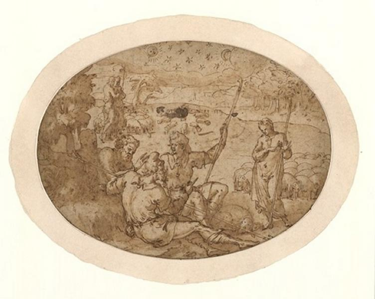 DELAUNE Etienne (dessinateur) : Le songe des gerbes et des étoiles, Rencontre des bergers (autre titre)