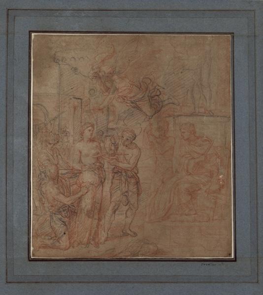 Le martyre de sainte Agathe ; Le supplice des tenailles (autre titre) ; Le martyre d'une sainte à laquelle on coupe un sein (autre titre)